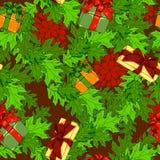 Weihnachtsmuster mit Geschenken stock abbildung