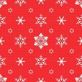Weihnachtsmuster mit openwork Schneeflocken Lizenzfreie Stockfotos