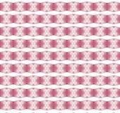 Weihnachtsmuster mit Schnee blättert auf rosa Hintergrund ab Stockbild