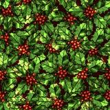 Weihnachtsmuster mit Stechpalme Stockfotografie