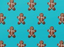 Weihnachtsmuster von Lebkuchenplätzchen lizenzfreie stockfotografie