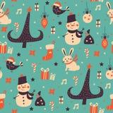 Weihnachtsmusterhintergrund Lizenzfreie Stockbilder