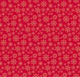 Weihnachtsmusterrot stock abbildung