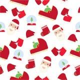 Weihnachtsmustersatz Stockbild