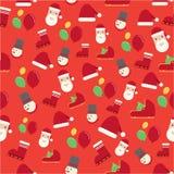 Weihnachtsmustersatz Lizenzfreies Stockbild