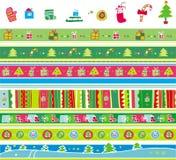 Weihnachtsmusterset stock abbildung