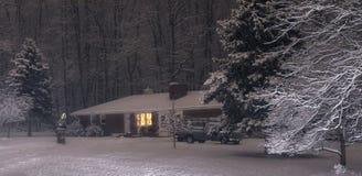 Weihnachtsnacht Stockbild