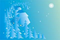 Weihnachtsnacht Stockfotografie
