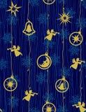 Weihnachtsnacht - nahtloses Muster Stockfoto