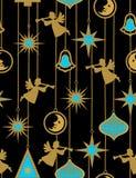 Weihnachtsnacht - nahtloses Muster Stockfotografie