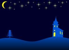Weihnachtsnacht - Vektor Stockfoto