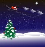 Weihnachtsnachthintergrund Lizenzfreie Stockbilder
