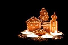 Weihnachtsnachtisch als Dekoration Stockbild