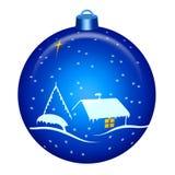 Weihnachtsnachtkugel Stockfoto