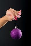 Weihnachtsnagelkunst Lizenzfreie Stockbilder