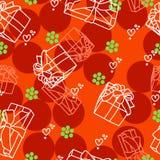 Weihnachtsnahtlose Beschaffenheit mit Geschenken lizenzfreie abbildung