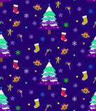Weihnachtsnahtloser Hintergrund Lizenzfreie Stockfotos