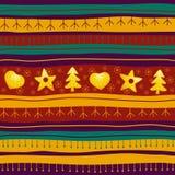 Weihnachtsnahtloser Hintergrund Stockbild