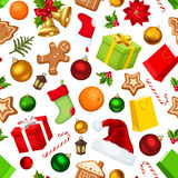 Weihnachtsnahtloser Hintergrund Auch im corel abgehobenen Betrag Lizenzfreie Stockfotografie
