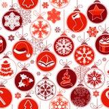 Weihnachtsnahtloser Hintergrund mit Kugeln Lizenzfreies Stockfoto