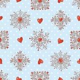 Weihnachtsnahtloser Hintergrund mit Schneeflocken vektor abbildung