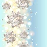 Weihnachtsnahtloser Hintergrund mit Schneeflocken lizenzfreie abbildung