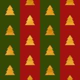 Weihnachtsnahtloses geometrisches Goldstrukturiertes Muster Lizenzfreie Stockfotografie