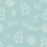 Weihnachtsnahtloses Muster Stockfoto