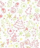 Weihnachtsnahtloses Muster Lizenzfreies Stockbild