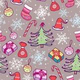 Weihnachtsnahtloses Muster. Lizenzfreies Stockfoto