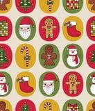 Weihnachtsnahtloses Muster Stockbilder