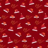 Weihnachtsnahtloses Muster lizenzfreie abbildung