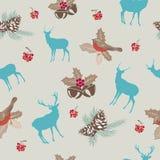 Weihnachtsnahtloses Muster Stockfotos