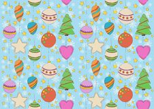 Weihnachtsnahtloses Muster Stockfotografie
