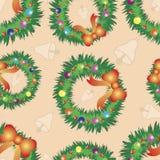 Weihnachtsnahtloses Muster. Stockbild