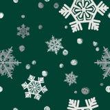 Weihnachtsnahtloses Muster Hintergrund mit silbernem Weihnachten-tre Lizenzfreies Stockbild