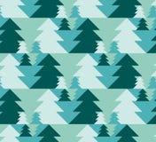 Weihnachtsnahtloses Muster mit Bäumen Stockbild