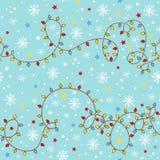 Weihnachtsnahtloses Muster mit Girlande. lizenzfreie abbildung
