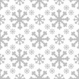 Weihnachtsnahtloses Muster mit großer Flocke Vektor stock abbildung