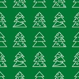 Weihnachtsnahtloses Muster - Weihnachtsbäume stockbild