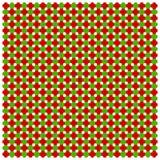 Weihnachtsnahtloses rot-grünes Muster Regenbogen und Wolke auf dem blauen Himmel lizenzfreie abbildung