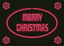 Weihnachtsneon Stockbild