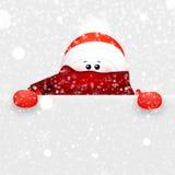 Weihnachtsnettes fSnowman und -zeichen Karikatur illustrat Stockfoto