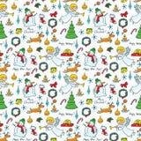 Weihnachtsnettes nahtloses Lizenzfreies Stockfoto