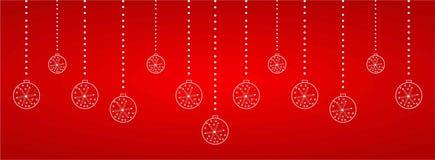 Weihnachtsnetzüberschrift Stockfotos