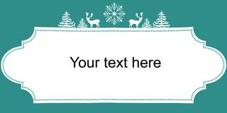 Weihnachtsneue Jahr-Netz-Fahnen-Plakat Weiß-Schattenbild-Rotwild-Tannenbaum-Schnee-Flocke 3d sehr schöne dreidimensionale Abbildu lizenzfreie abbildung