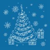 Weihnachtsneues Jahr Lizenzfreies Stockbild
