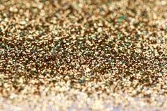Weihnachtsneues Jahr-Gold-und Silber-Funkelnhintergrund Abstrakte Beschaffenheit des Feiertags Stockbild