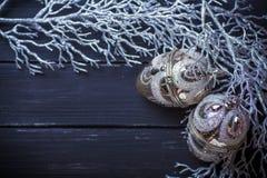 Weihnachtsneues Jahr-Hintergrund Lizenzfreie Stockbilder