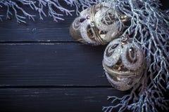 Weihnachtsneues Jahr-Hintergrund Lizenzfreie Stockfotografie
